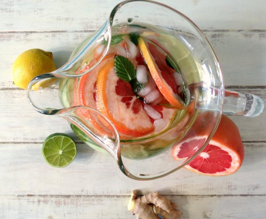Detox Water-огурец и грейпфрут как приготовить