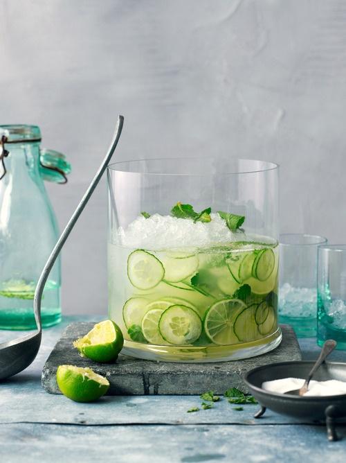 Лайм и огурец-вкусная и полезная вода