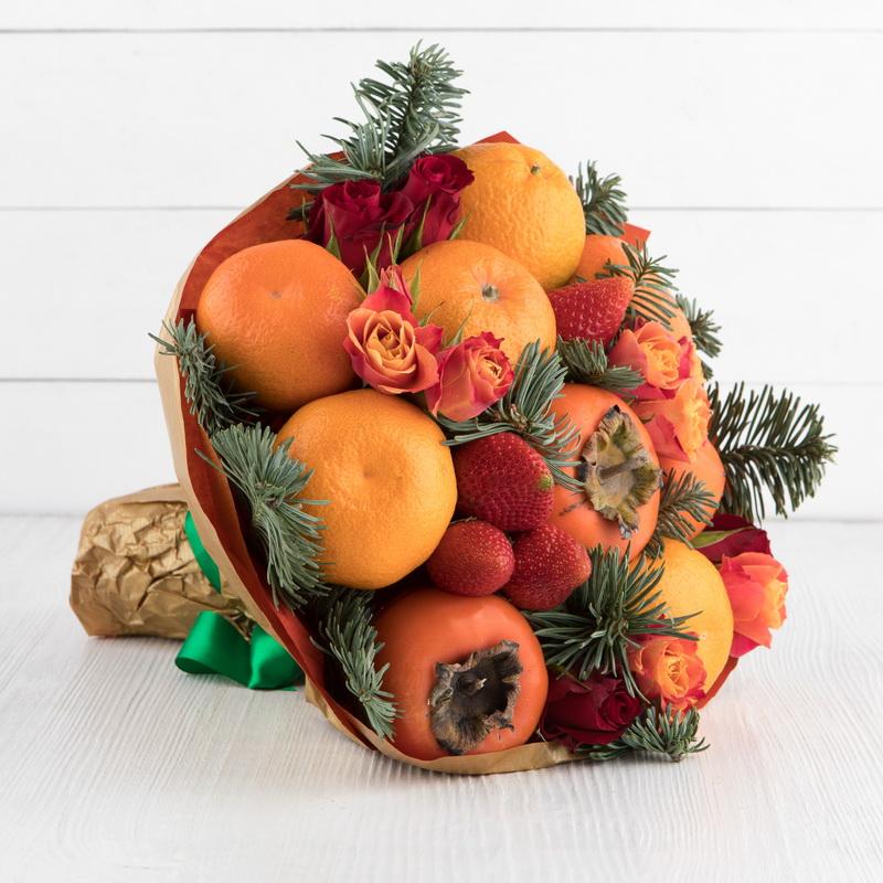 Оранжевый букет-вкусный креатив