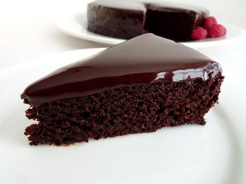 Шоколадный постный торт-фото