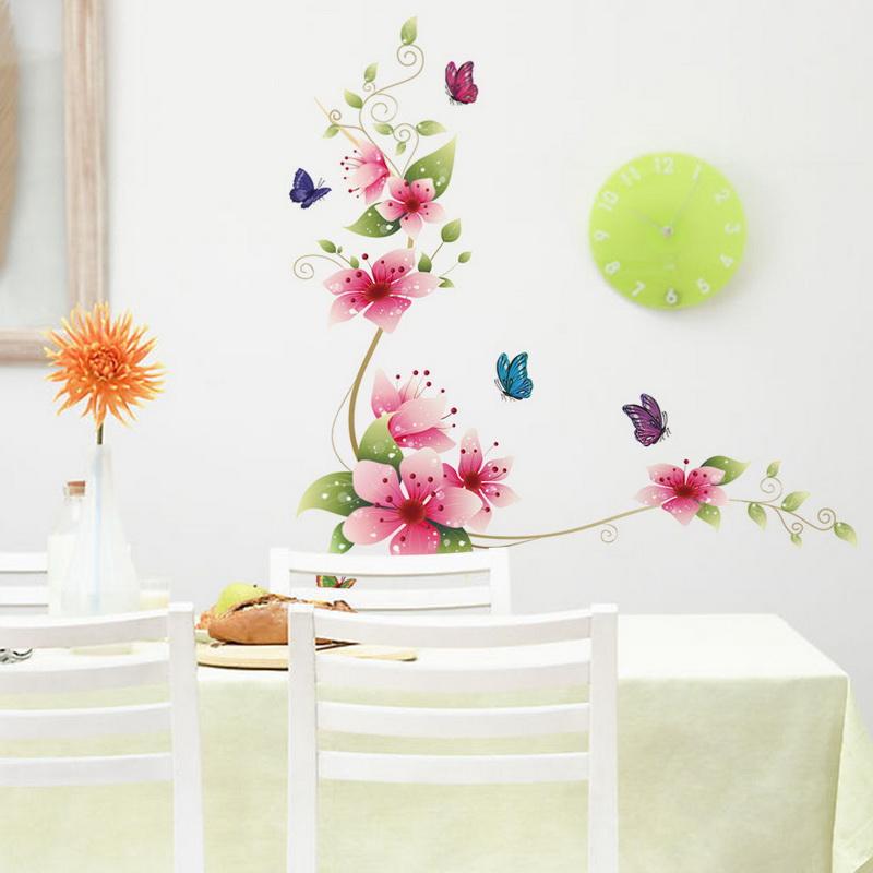 Цветы в интерьере-наклейка