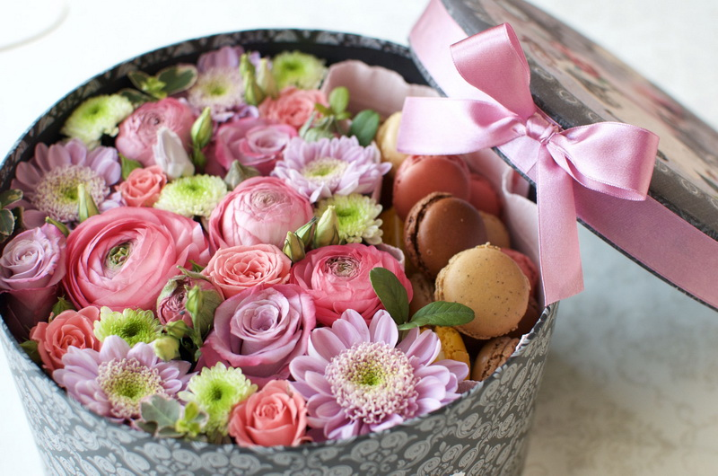 Цветы в коробке-тренд