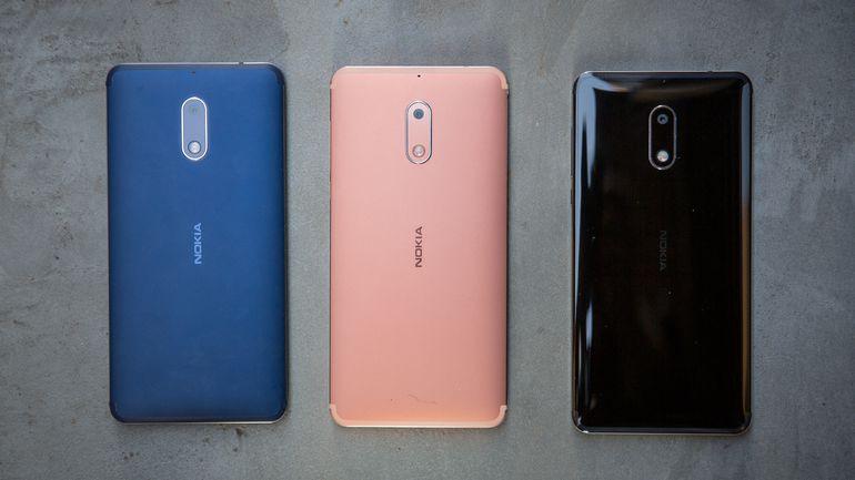 Топ-5 смартфонов на Android - nokia 6 в разных цветах