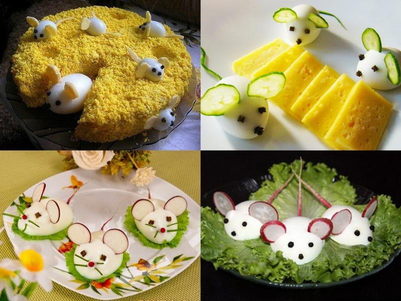 Блюда из яиц-мышки