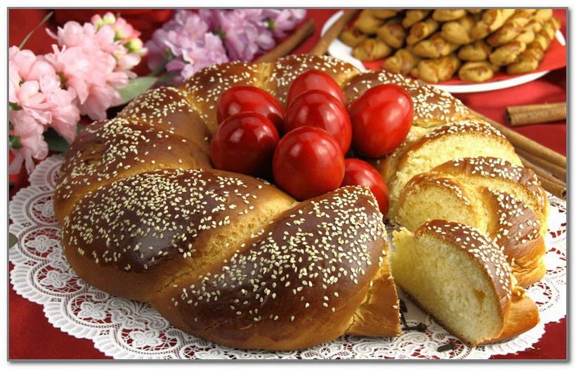 Греческий пасхальный пирог-Цурек
