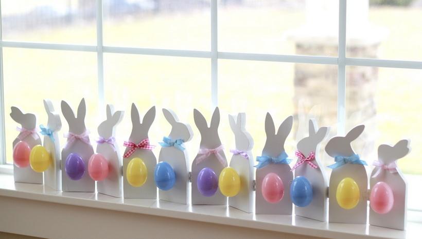 Кролики-декор окон
