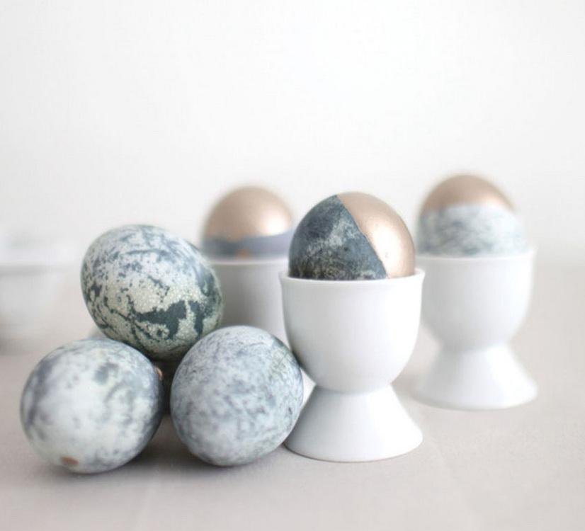 Мраморные яйца-пасхальный декор фото 1