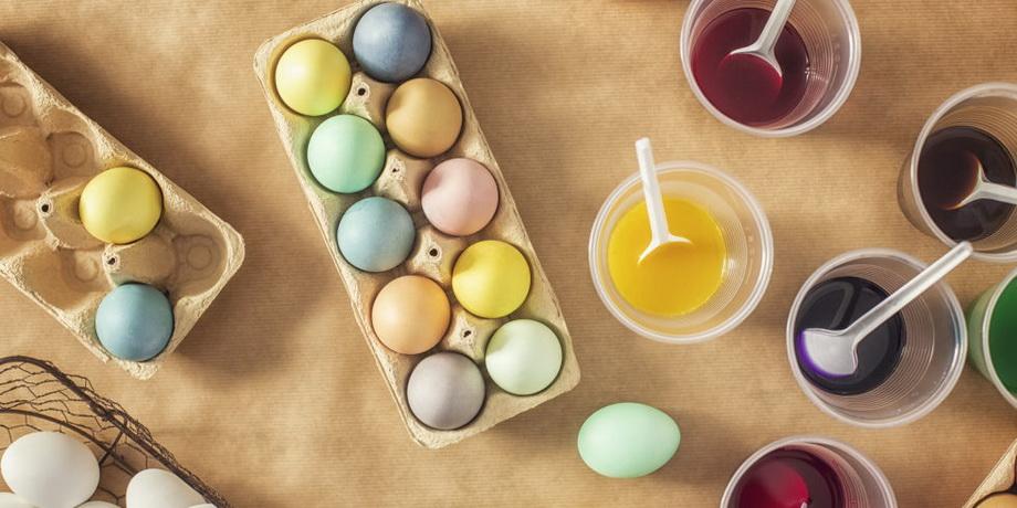 Окрашивание пасхальных яиц-краски