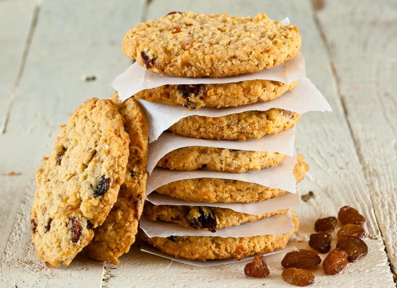 Овсяное печенье-с изюмом