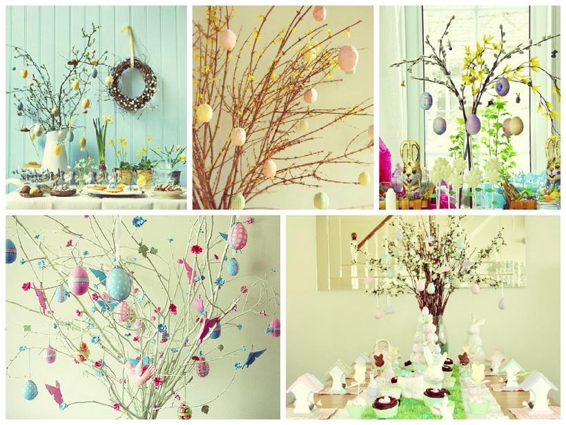 Пасхальные деревья-идеи и креатив