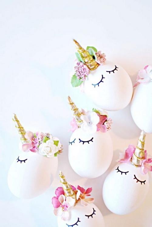 Пасхальные яйца-единороги-идеи и креатив