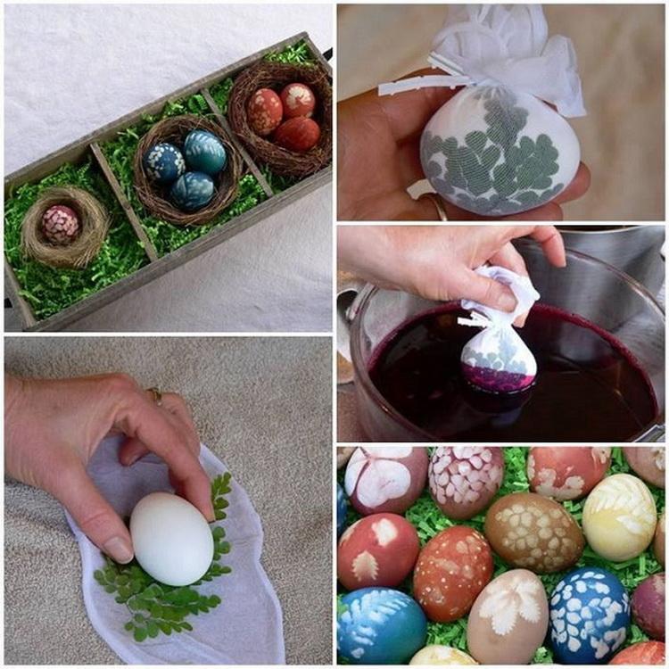 Пасхальные яйца-окрашивание