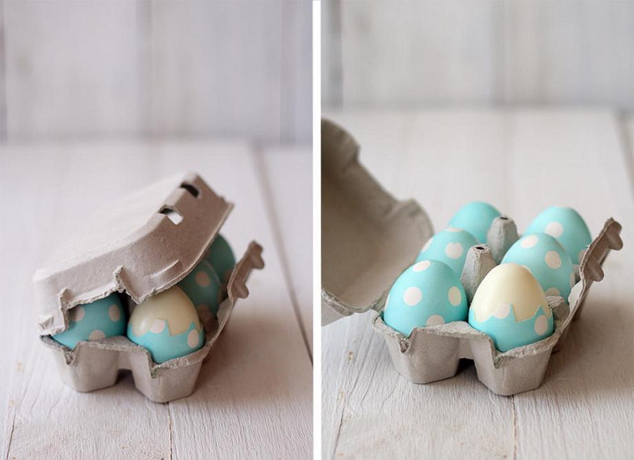 Пасхальные яйца-в горошек