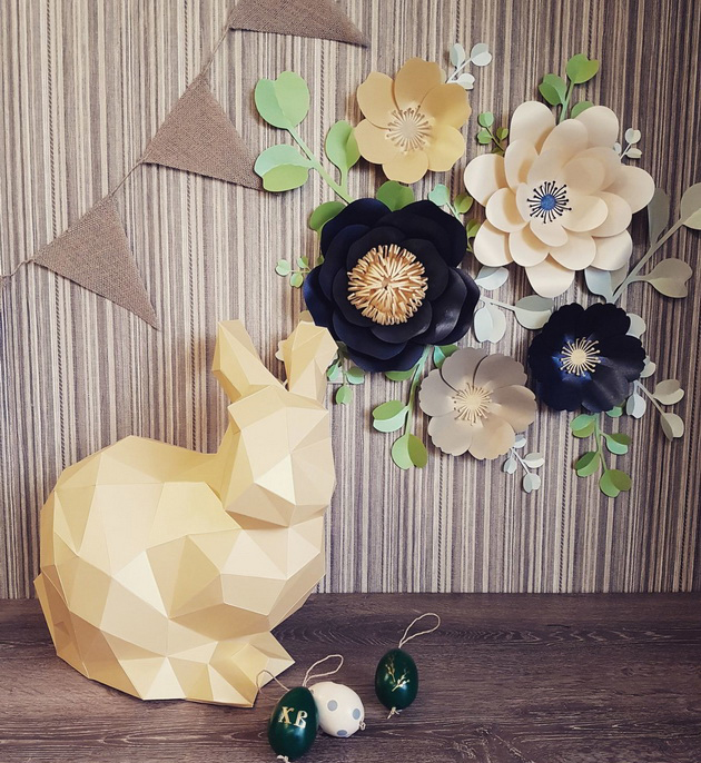 Пасхальный кролик-декор комнаты