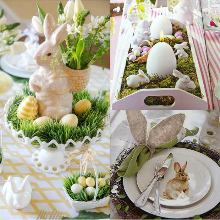 Пасхальный кролик-сервировка стола