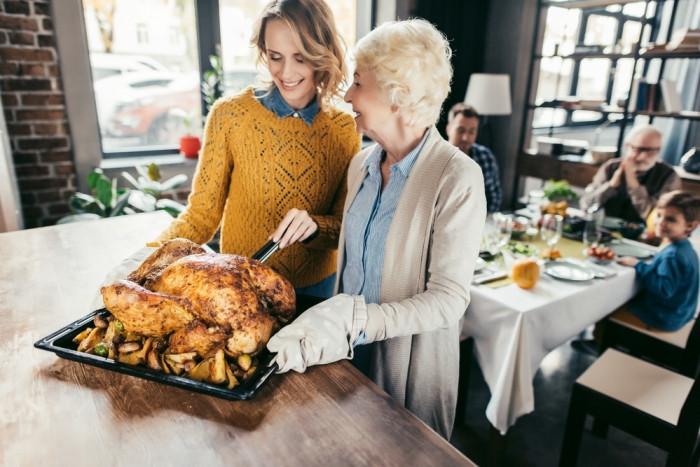 Праздничная индейка-семейный ужин