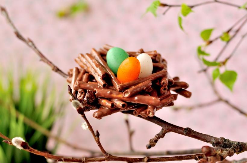 Шоколадные пасхальные гнезда-вкусные идеи