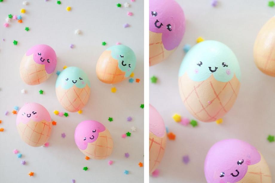 Сладкое мороженое-пасхальные яйца