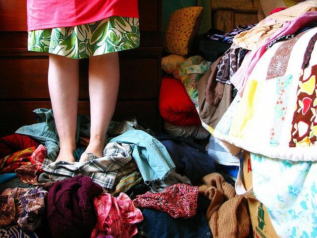 Старая одежда-хлам