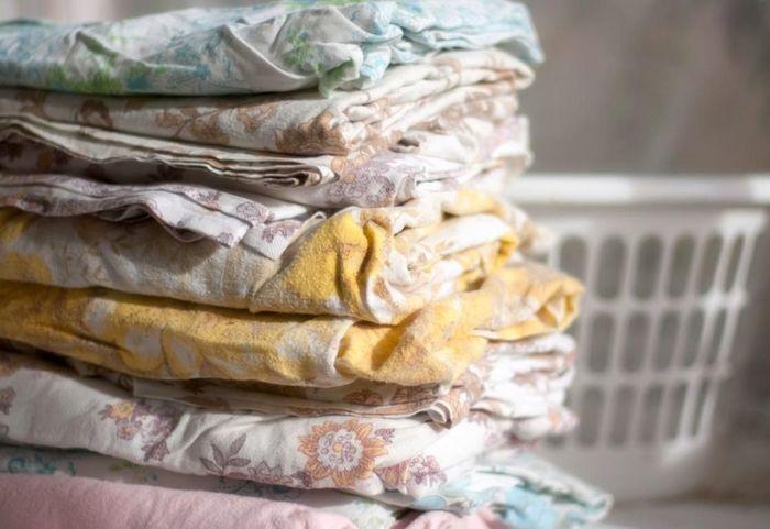 Старое постельное белье-расхламление