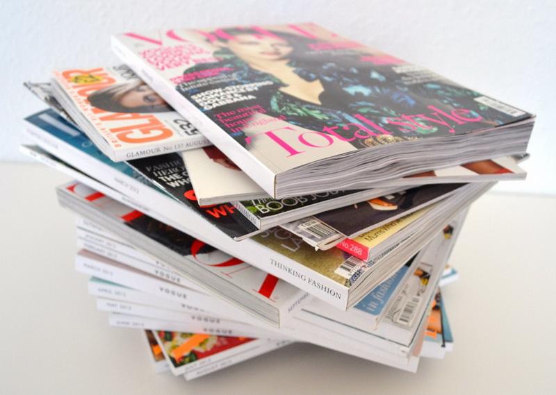 Старые журналы-хлам
