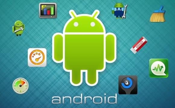 Топ-5 устройств на системе Android - утилиты и логотип Android