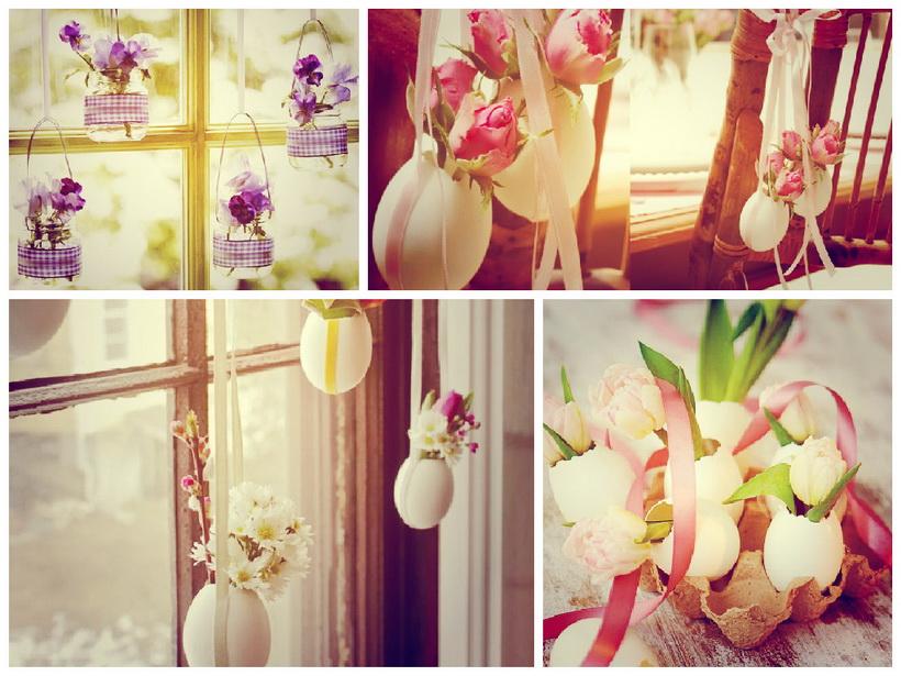 Яичная скорлупа-подвесная ваза