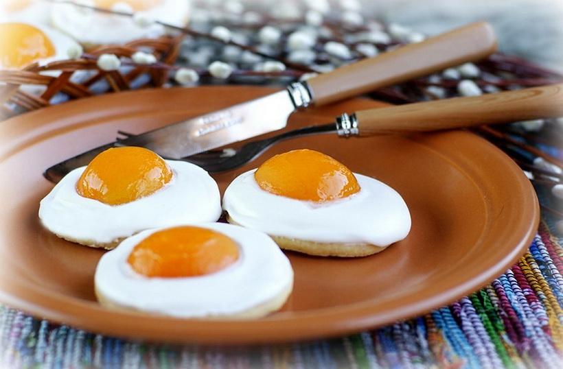 Яичница-пасхальное печенье