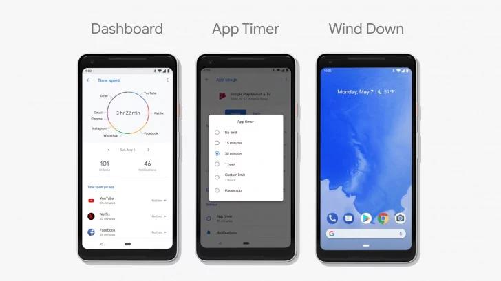 Android P-контроль использования устройства