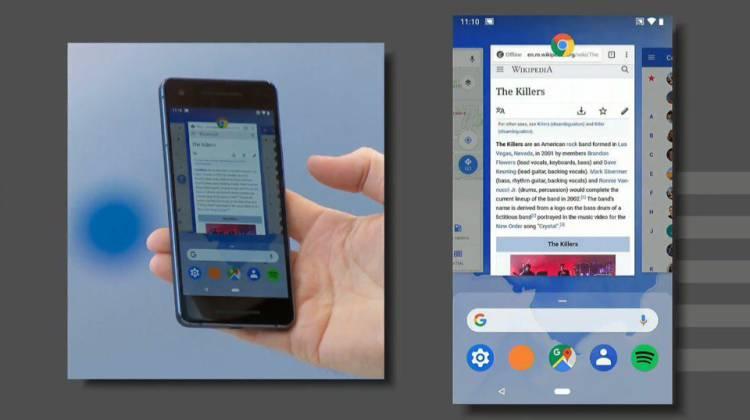 Android P-обновленная навигационная панель