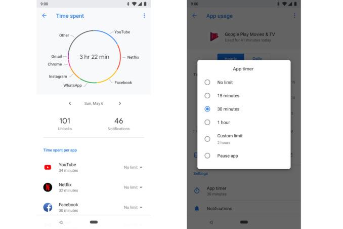 Android-лимит на использование определенных приложений