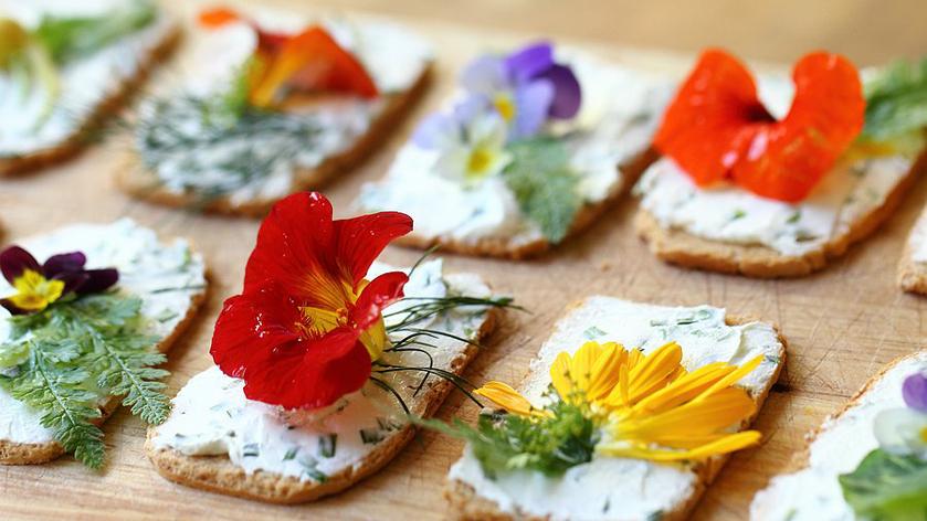 Бутерброды с цветами-кулинарный тренд