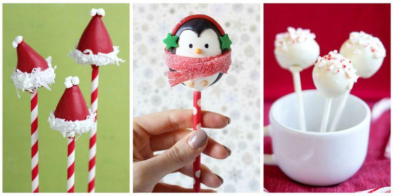 Christmas Cake Pops-коллаж