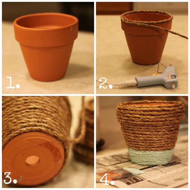 Декор цветочного горшка для веранды-мастер-класс