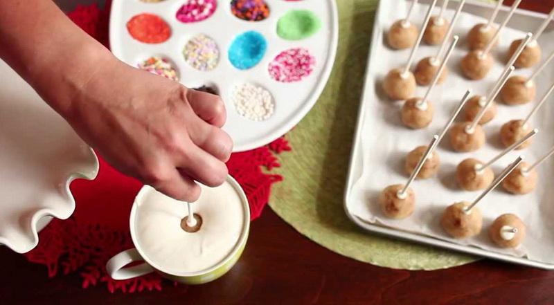 Кейк-попсы-глазурь в чашке