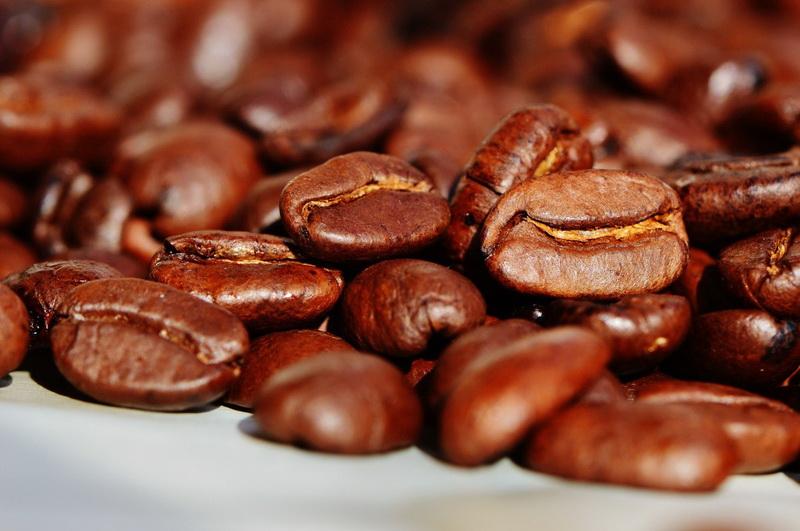 Кофейные зерна-крупный план