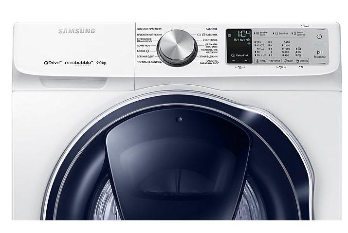 Новая линейка стиральных машин Samsung Qdrive 2018 - Панель управления