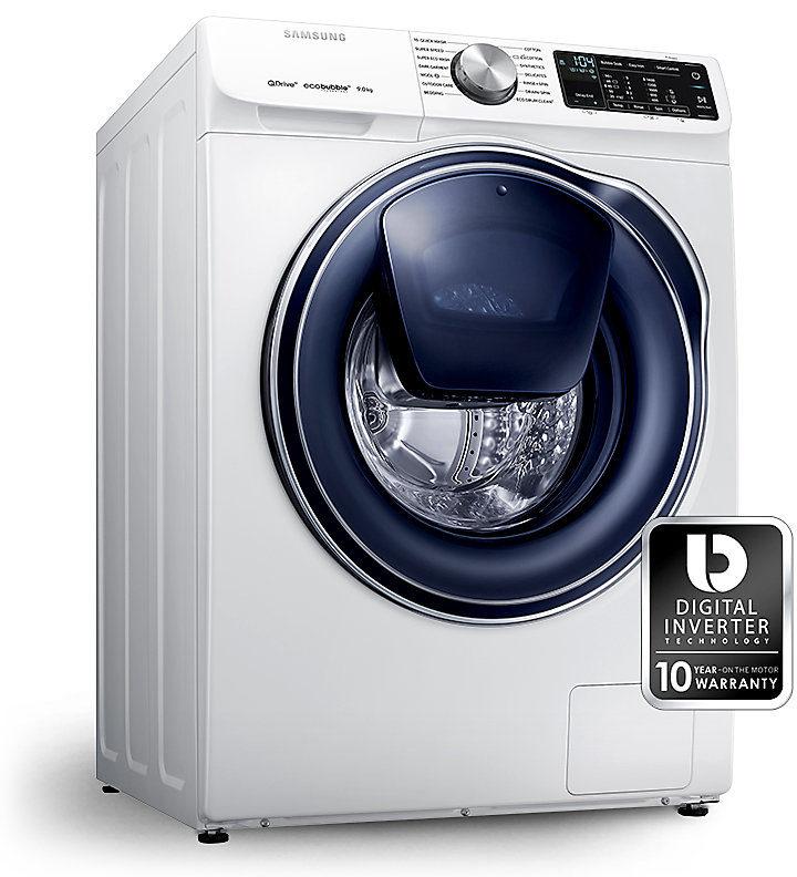 Новая линейка стиральных машин Samsung Qdrive 2018 - инвверторный двигатель