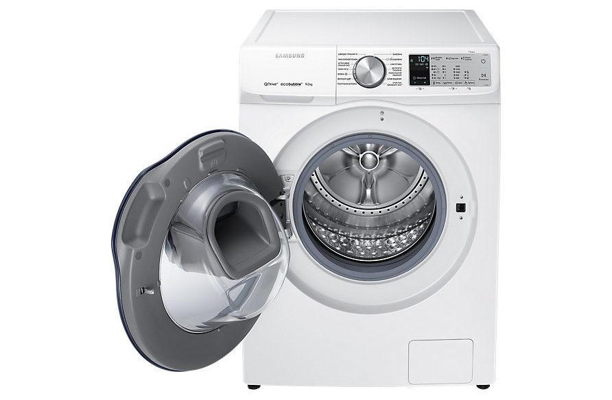 Новая линейка стиральных машин Samsung Qdrive 2018 - стиральная машина с открытой дверцей