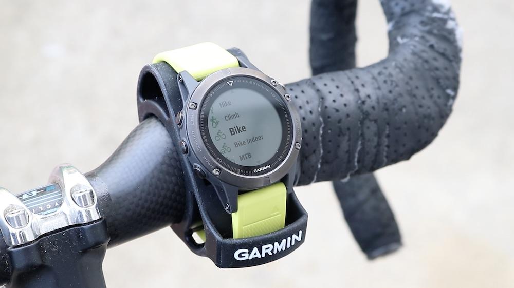 Обзор смарт-часов Garmin Fenix 5X Sapphire - часы на ручке велобайка
