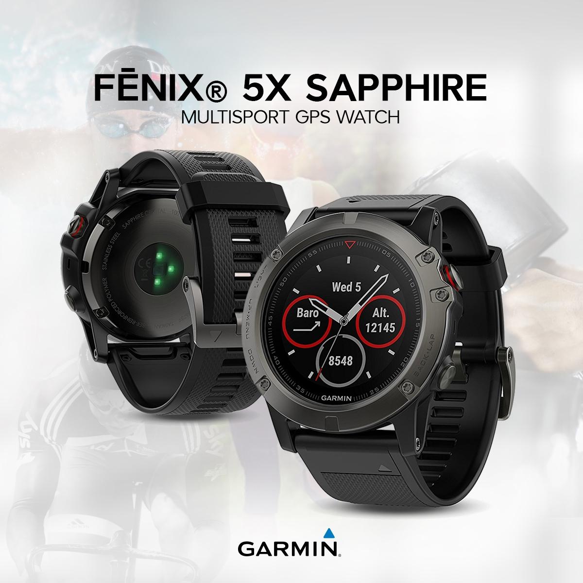Обзор смарт-часов Garmin Fenix 5X Sapphire - мультиспортивные часы