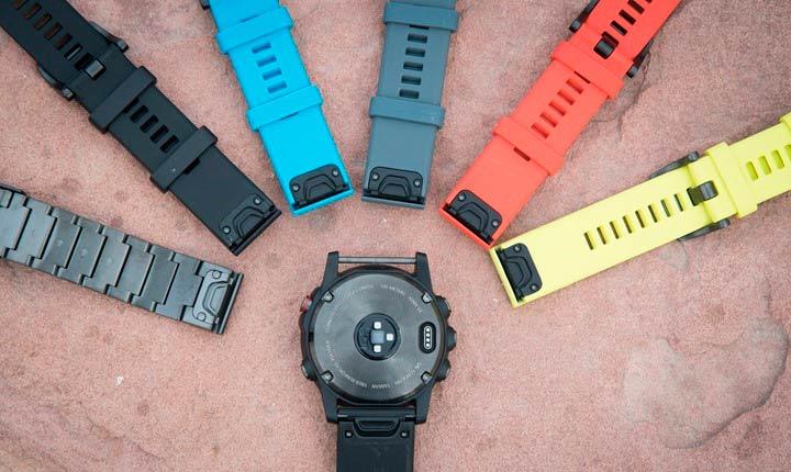 Обзор смарт-часов Garmin Fenix 5X Sapphire - разные ремешки