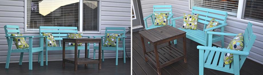 Покраска старой мебели-новый вид