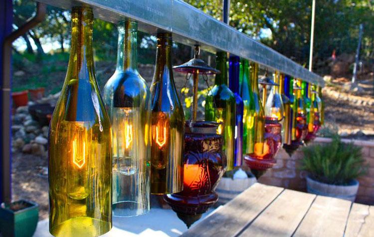 Стеклянный декор сада-освещение