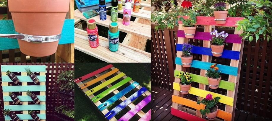 Цветной декор сада-своими руками