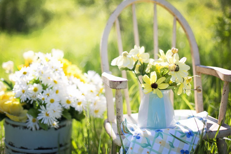 Цветы во дворе-фотозона