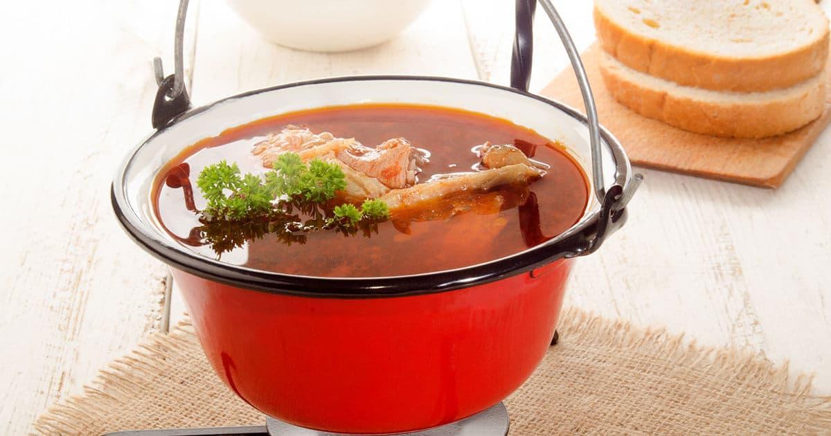 Венгерский суп халасле