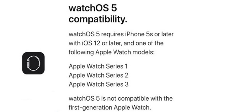 watchOS 5-Apple Watch