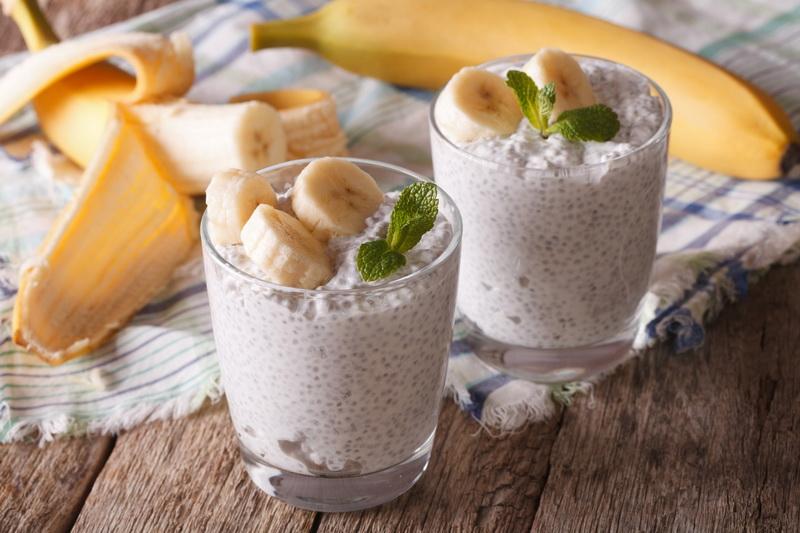 Чиа-пудинг-с бананом