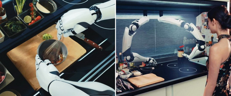Двурукий робот-повар Moley